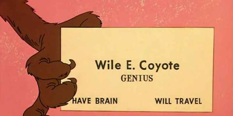 Wile E. Coyote Business card