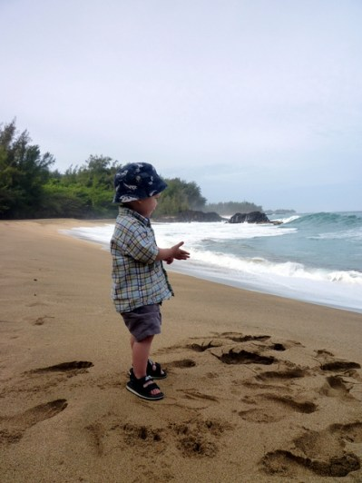 """Exploring the north coast. Apparently some of """"South Pacific"""" was filmed on this beach."""