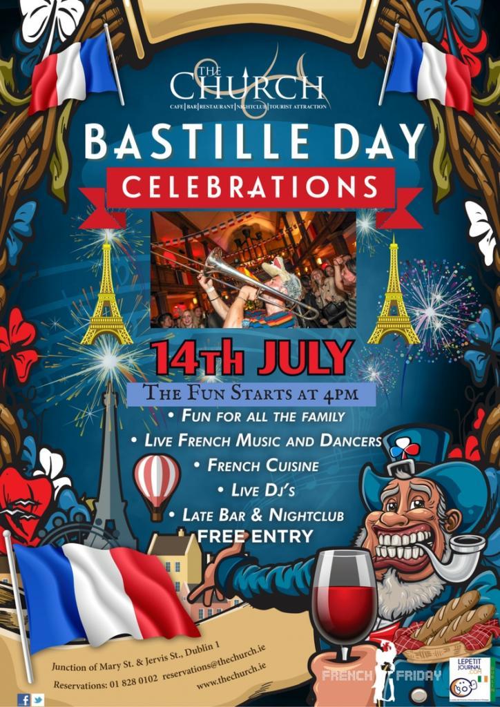 Bastille Day 2018 The Church Bar Restaurant Dublin