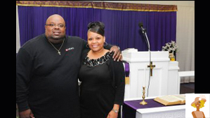 """Bishop Carl Mimms and wife"""