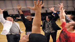 """Michael Jackson at This is It Tour Rehearsal"
