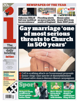"""Gay marriage 'one of most serious threats to Church in 500 years'"""