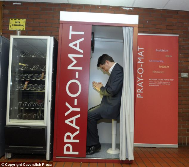 The Pray o Mat Prayer Booth