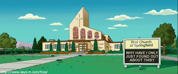 the First Church of Springfield Sign Generator