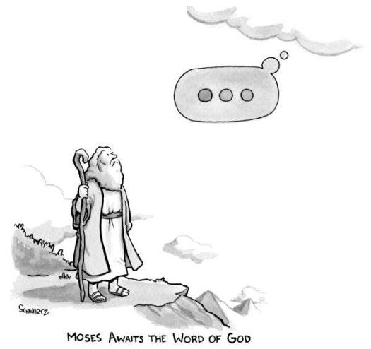 Moses-Awaiting-Word-Of-God