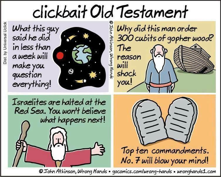 You Will Not Believe What The Clickbait Bible Looks Like!