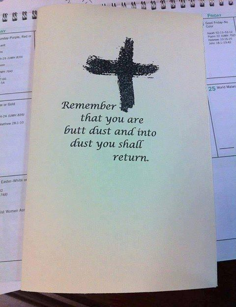 Seen On Ash Wednesday...