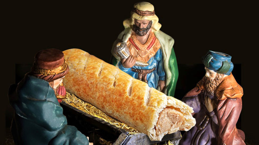 Jesus Being Painted With Greggs Sausage Roll