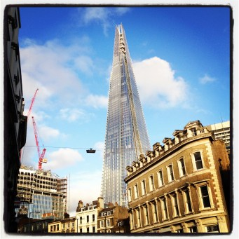 The Shard on a sunny afternoon