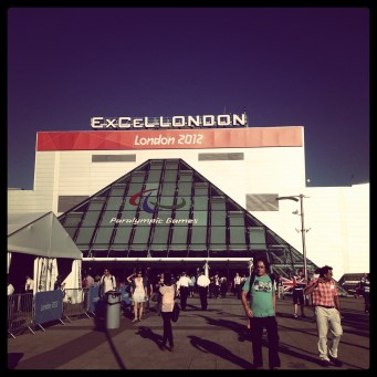 The Excel Centre during the Paralympics 2012