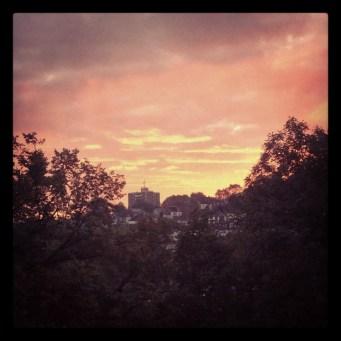 Beautiful sunrise from my bedroom window in East Dulwich