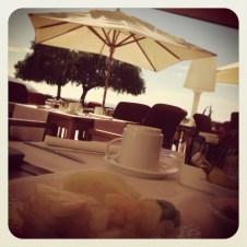 Breakfast al fresco - now that is luxury for me