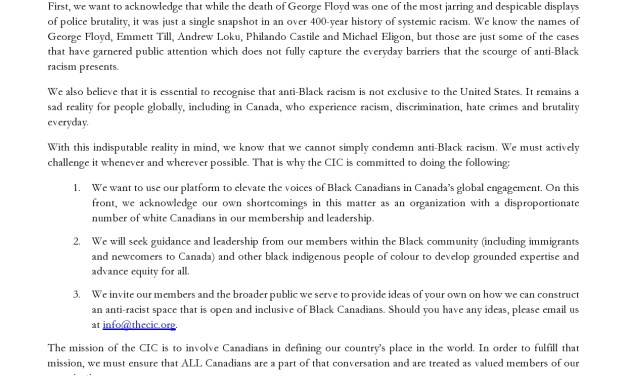 Our Response to the Death of George Floyd and Ongoing Protests against Anti-Black Racism