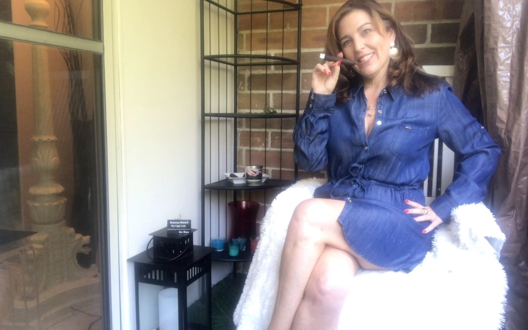 I Am A Balcony Smoking Expert … with the perfect cigar for the job … Love, Ramona #TheCigarLady