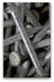 10 penny nail into hardwood