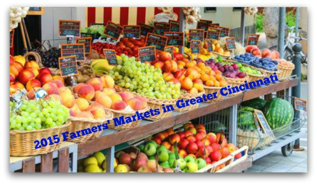 2015 Farmers Markets in Greater Cincinnati