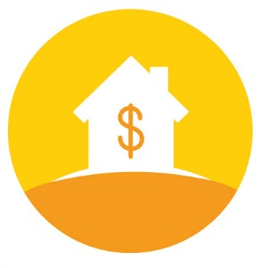 icon depicting cost of housing