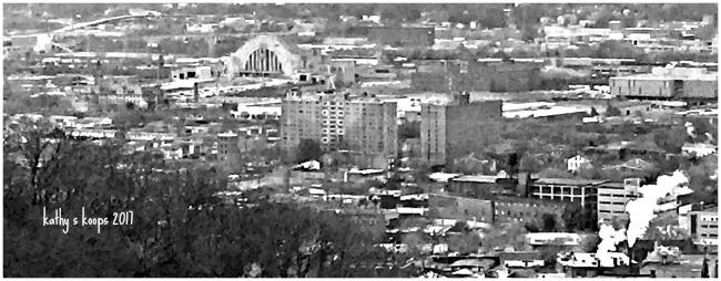 Cincinnati in black and white