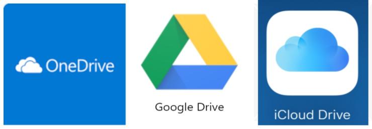 Google Drive, icloud onedrive icon