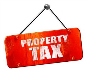 picture of property tax sign