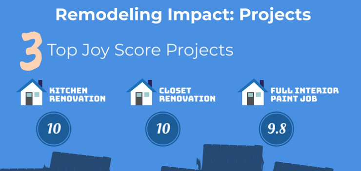 infographic about best home reno projects