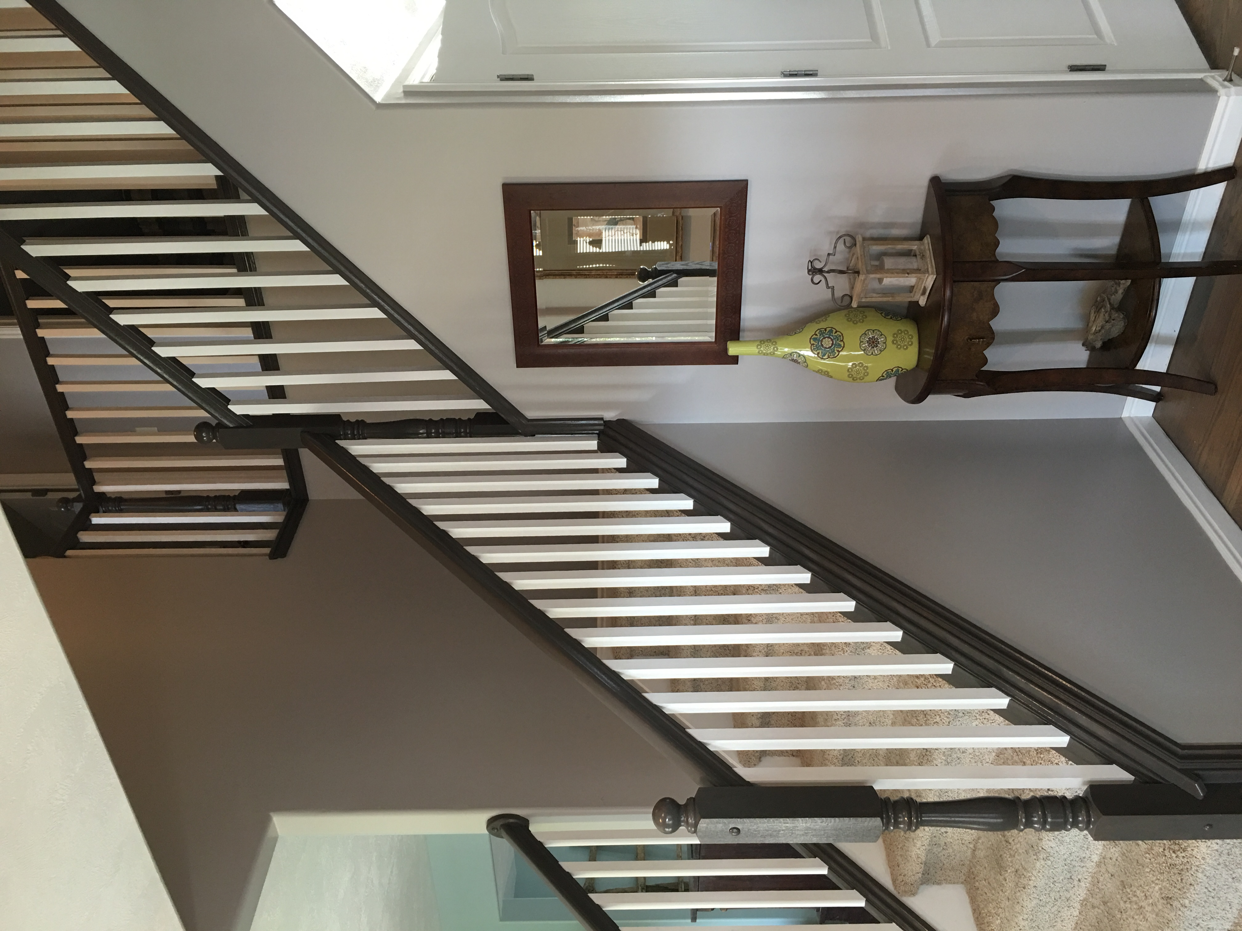 Painting And Staining Our Stair Railing Part 3