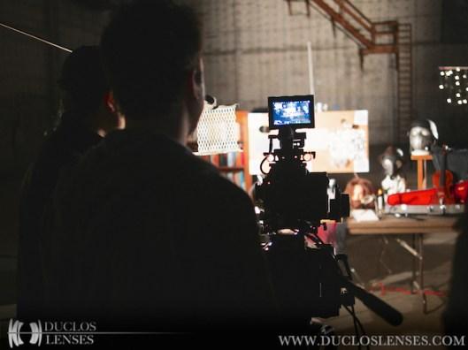 Shooting the test setup at RED Studio Hollwyood