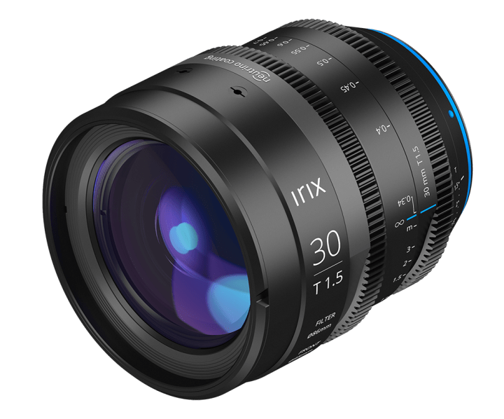 Irix Expands Cine Prime Line with 30mm T1.5