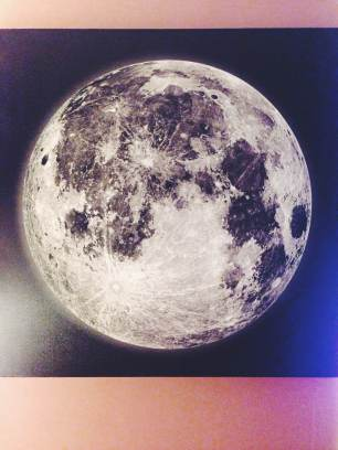 Last but certainly not least is the big canvas print of the moon that will hang above the bed when my love and I move into our apartment.