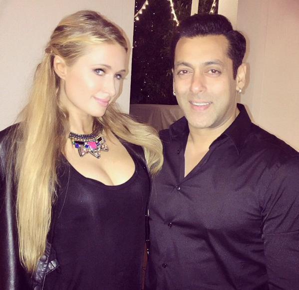 Salman Khan and Paris Hilton