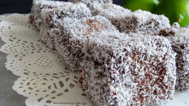 Lime Cordial Lamingtons (Gluten-free)