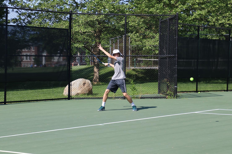 Gabe Scholl '19 practicing.