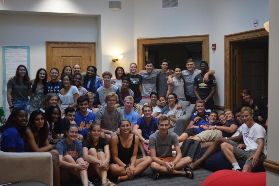 Peer+counselors+and+lead+prefects+meet+for+training.
