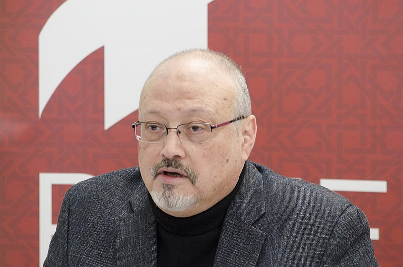 Khashoggi+at+a+conference+in+March%2C+2018