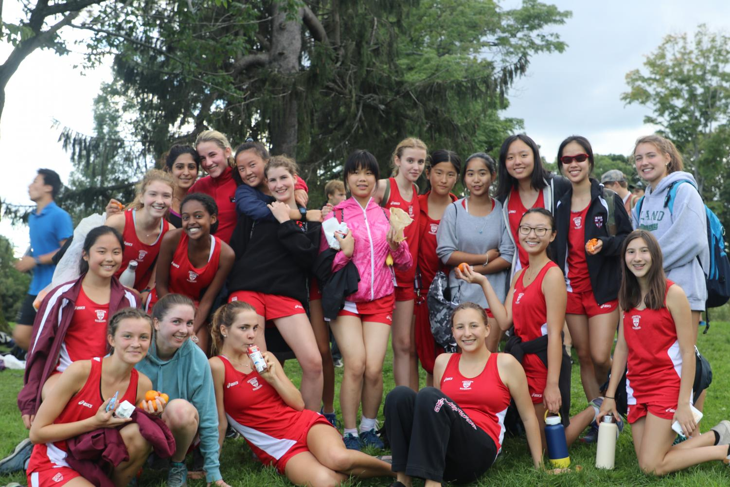 Girls cross country after a race against BB&N.