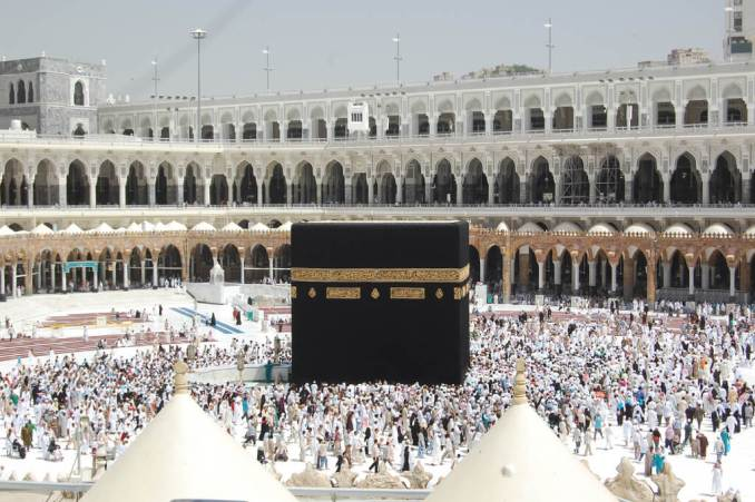 The Kaaba (Arabic: الكعبة al-Kaʿbah), is a cube-shaped building in Mecca, Saudi Arabia, and is the most sacred site in Islam - photo credit - Omar A (flickr)