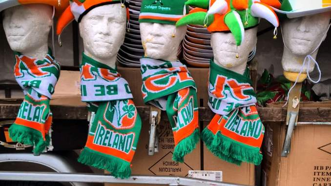 Supporters can avail of a choice of green attire to show their support. Photo credit: Garry Knight (Flickr).
