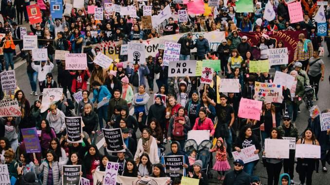 International Women's Day March - Los Angeles - credit photo (flickr) Molly Adams