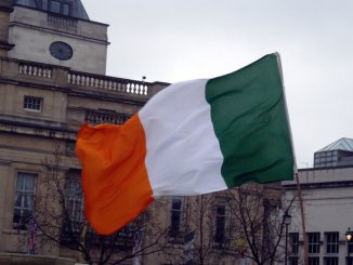 Irish flag (orange, white and green)