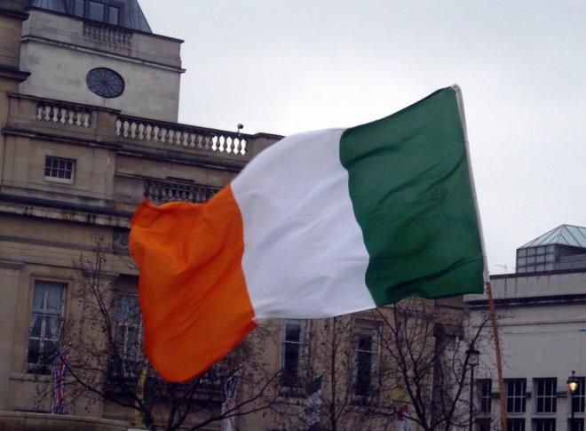 Irish flag (orange, white and green)
