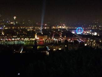 Lyon by night during Lantern Festival