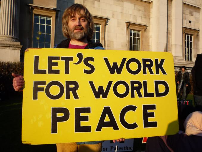 Let's Work For World Peace. Photo Credit: BrotherMagneto