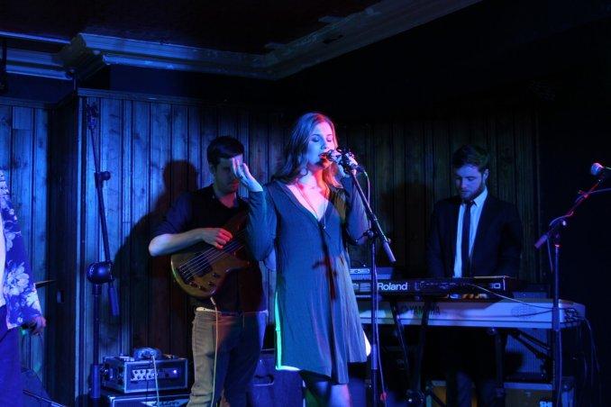 Jazz singer from Dublin, Fiadh Rua,, on stage