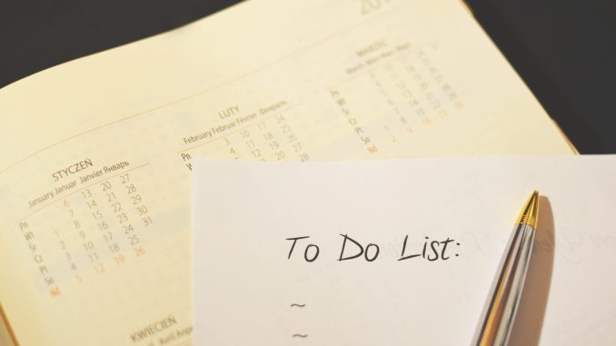 Pen on to Do List Paper