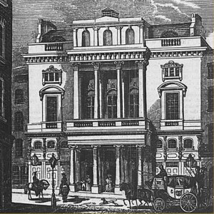 St James's Theatre. Image from 1836, shortly after its opening.