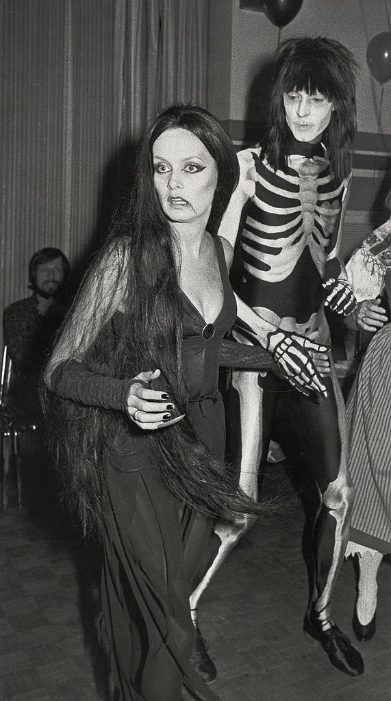 Twiggy At a Halloween party in New York in 1984  the