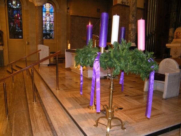 Advent Wreath at the Carmelytte Church, Aungier Stree in Dublin