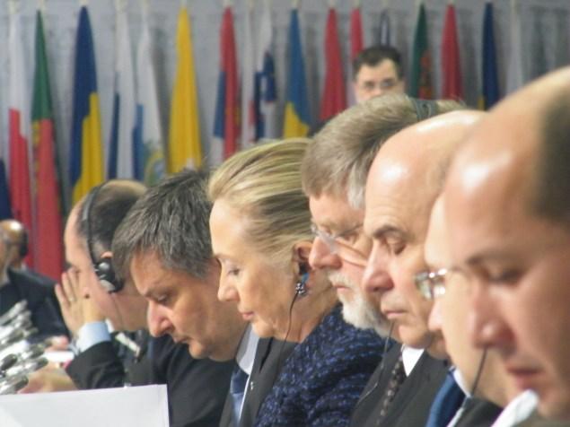 OSCE Ministers mid-meeting.Photo:Martha Gberevbie