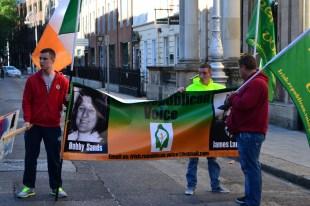 Irish Republican Voice protesters