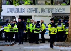 Massive Garda Presence outside the Dáil